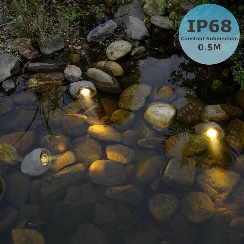 Techmar lapis 3w 12v led underwater rock light for Garden pond lights