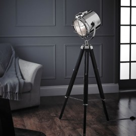 Endon Nautical LED Polished Nickel Floor Light