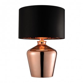 Endon Waldorf  High Shine Copper Effect Glass Table Lamp