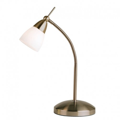 Range Touch Antique Brass Effect Table Lamp