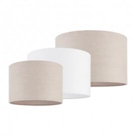 Endon Obi Elegant Vintage Linen Cylindrical Lamp Shade