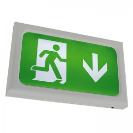 Ansell Encore LED Exit Sign 2.6W LED Silver Grey