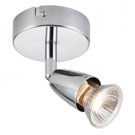 Amalfi Chrome 1 Light Spotlight Plate
