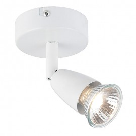 Amalfi White 1 Light Spotlight Plate