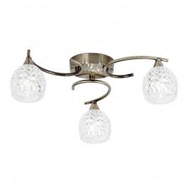 Endon Endon Boyer 3 Bulb Antique Brass Ceiling Light
