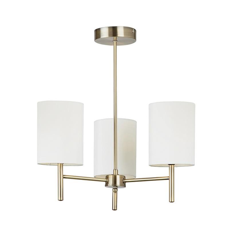 Brass Finish Ceiling Lights : Endon lighting brio brass finish ceiling light