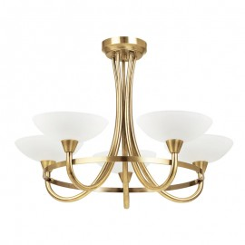 Endon Cagney 5 Light Antique Brass Effect Ceiling Light