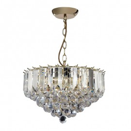 Endon Fargo 3 Bulb Brass Effect Pendant Light
