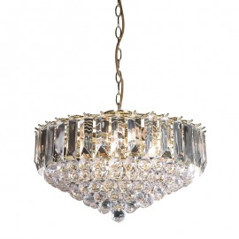 Endon Fargo 6 Bulb Brass Effect Pendant Light
