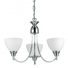 Endon Alton 3 Light Satin Chrome Pendant Light
