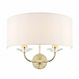 Endon Nixon 2 Light Bulb Brass Effect Wall Lamp