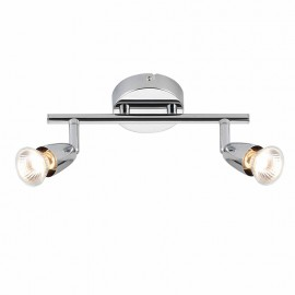 Amalfi Chrome Plate 2 Light Bar Ceiling Spotlight