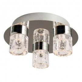 Endon Imperial 3 Light  Flush LED Bathroom Ceiling Light