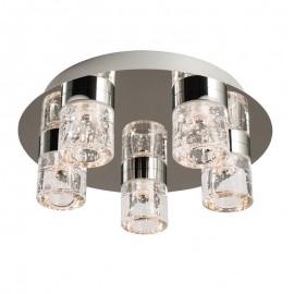 Endon Imperial 5 Light  Flush LED Bathroom Ceiling Light