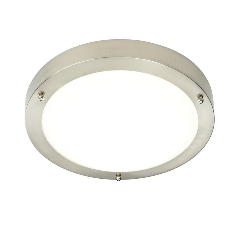 Portico Satin Nickel IP44 Cool White LED Bathroom Light