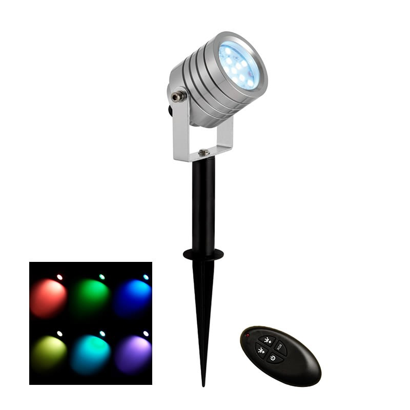 luminatra silver rgb ip65 2 5w led spotlight. Black Bedroom Furniture Sets. Home Design Ideas