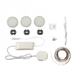 Saxby Marci Round LED Kitchen Under Cabinet Lighting Kit