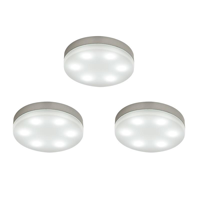 Under Cabinet Kitchen Lighting Led: Marci Round LED Kitchen Under Cabinet Lighting Kit