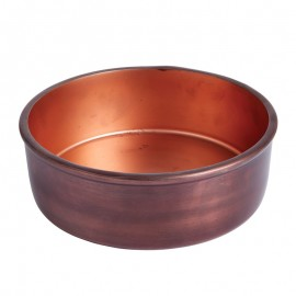 Ridley Large Metal Bowl With Aged Copper Finish
