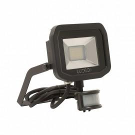 Luceco Black 15W Slimline Guardian Floodlight With PIR