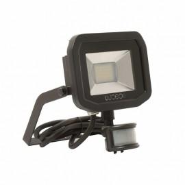 Luceco Black 22W Slimline Guardian Floodlight With PIR