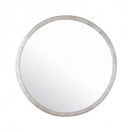 Endon Leyburn Circular Hammered Brushed Satin Nickel Mirror