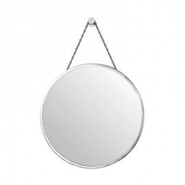 Endon Thornbury Stylish Round Polished Nickel Mirror