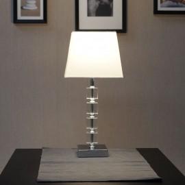 Moreto Tapered Chrome Table Lamp