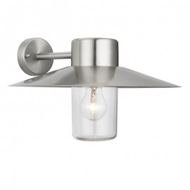 Endon Fenwick Exterior Wall Light Stainless Steel