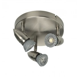 Three Round LED GU10 Ceiling Bar Light