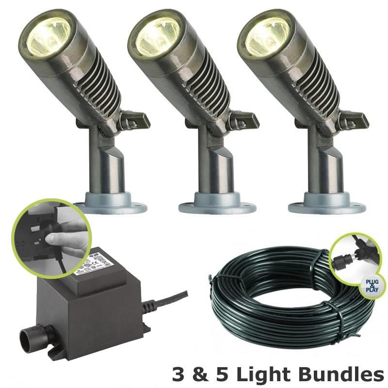 techmar minus led garden spotlight kit. Black Bedroom Furniture Sets. Home Design Ideas