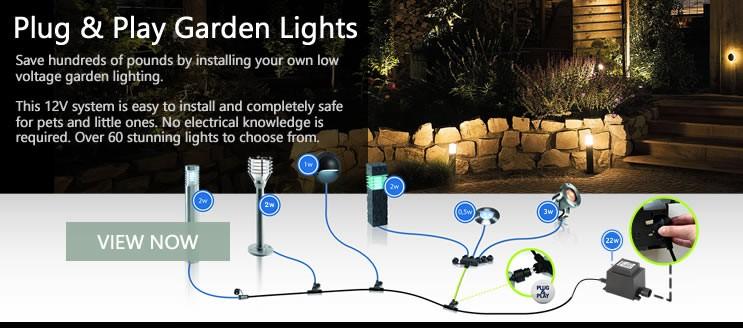 15% Off Plug & Play Garden Lighting