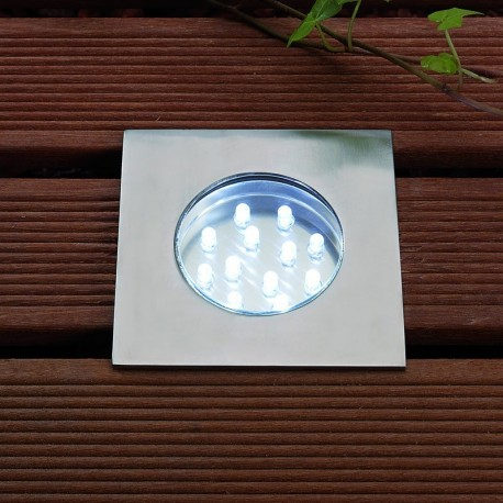 Hybra White 12V Plug & Play LED Decking Light