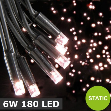 Heavy Duty Static Warm White 6W 180 LED String Lights