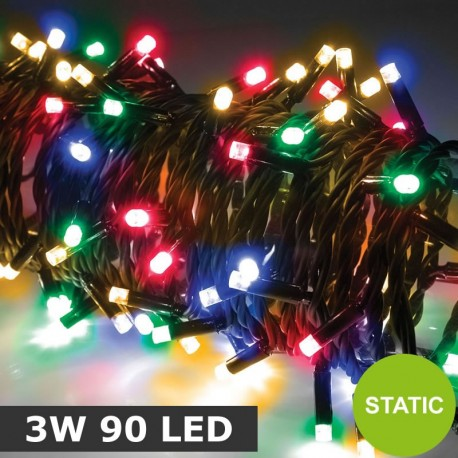 Heavy Duty Static RGBY Multicolour 3W 90 LED String Lights