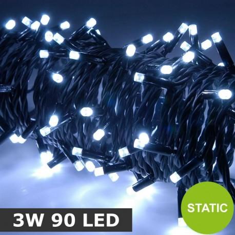 Heavy Duty Static White 3W 90 LED String Lights