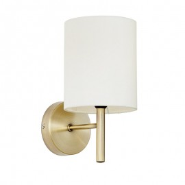 Brio Brass Finish Wall Light & Cream Shade