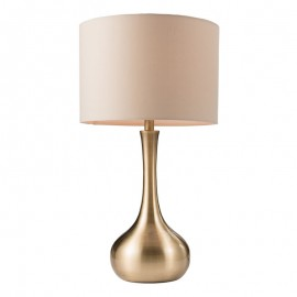Endon Piccadilly Touch Satin Soft Brass Plate Table Lamp