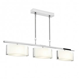Endon Clef 3 Light Bar Semi Flush Ceiling Light