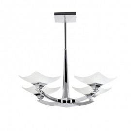 Endon Ayres 4 Light Semi Flush Ceiling Light