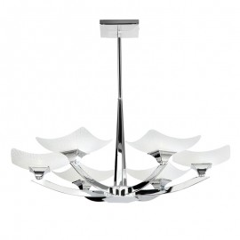 Endon Ayres 6 Light Semi Flush Ceiling Light