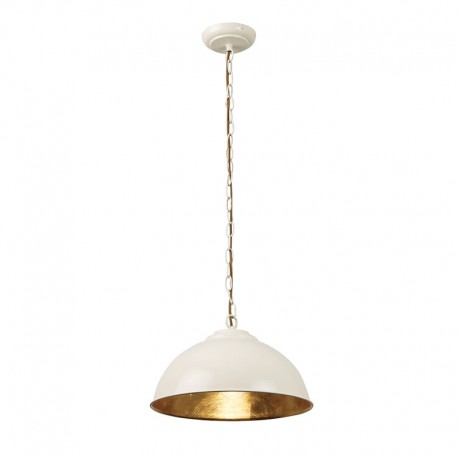 Colman Cream Gloss Pendant With Gold Leaf Inner