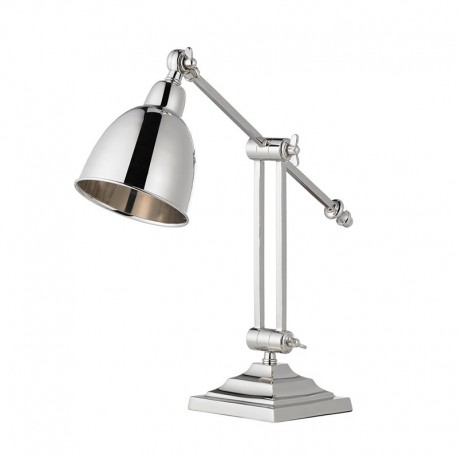 Raskin Task Polished Nickel Table Lamp