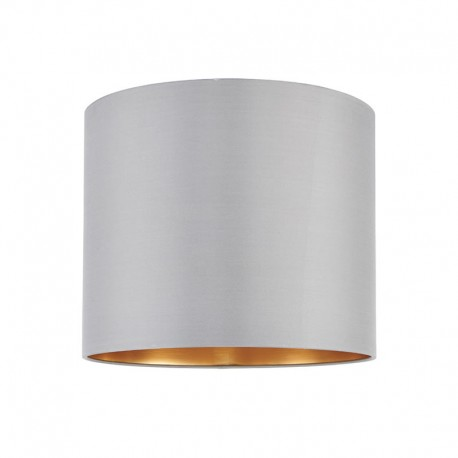 Boutique Opulent 12 Inch Lamp Shade - Grey Silk