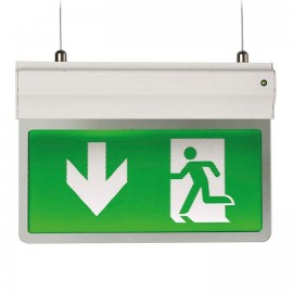 Ansell Lighting Eagle 3-In-1 LED Exit Sign 2.5W LED SIlver