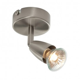 Endon Amalfi Satin Nickel 1 Light Spotlight Plate