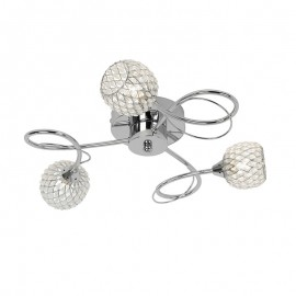 Endon Aherne 3 Light Flush Dimmable Ceiling Light