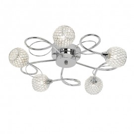 Endon Aherne 5 Light Flush Dimmable Ceiling Light