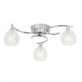 Boyer 3 Bulb Chrome Ceiling Light