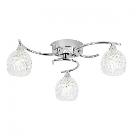 Endon Boyer 3 Bulb Chrome Ceiling Light